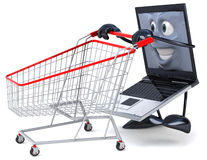 Laptop shopping Royalty Free Stock Images