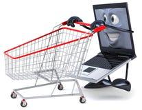 Laptop shopping Royalty Free Stock Images