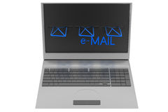 Laptop shopping  email delivary Royalty Free Stock Photo