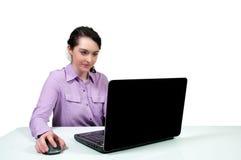 laptop się kobiety Zdjęcie Royalty Free