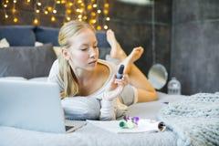 laptop się kobiety fotografia royalty free