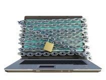 Laptop sicher Lizenzfreie Stockfotos
