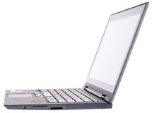 Laptop side isometric view Stock Photography