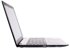 Laptop side isometric view Royalty Free Stock Photos