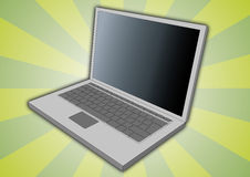 Laptop side view Royalty Free Stock Images