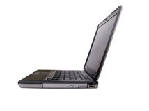 Laptop sideview with clipping path. (will need photoshop or equivalent to use path royalty free stock photography