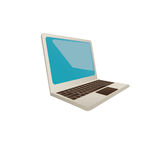Laptop sideview icon image Royalty Free Stock Photo