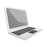 Laptop sideview icon image Royalty Free Stock Image