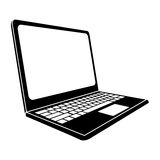 Laptop sideview icon image Stock Images