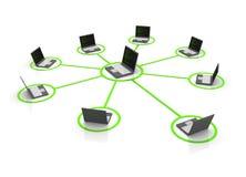 laptop sieć Zdjęcie Stock
