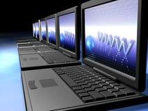 laptop sieci Zdjęcia Stock