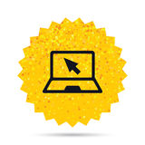 Laptop sign icon. Notebook pc with cursor symbol. Stock Images