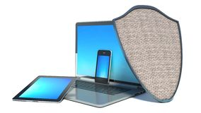 Laptop, smart-phone and tablet PC Stock Photos