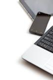 Laptop, Smartphone en Tabletpc Royalty-vrije Stock Foto's