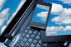 Laptop, Smartphone and Tablet PC Stock Photography