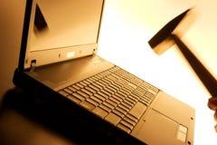 Laptop smash Royalty Free Stock Images