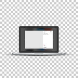 Laptop with social network photo frame Royalty Free Stock Photography