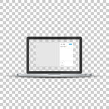 Laptop with social network photo frame Royalty Free Stock Photo