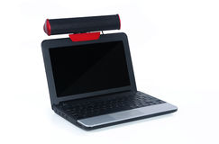 Laptop With Speaker Stock Photography