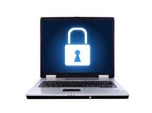 Laptop sperrte Lizenzfreies Stockbild