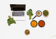 Laptop for spices. Stock Photos