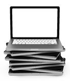 The laptop stack Royalty Free Stock Photo