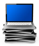 The laptop stack Stock Photography
