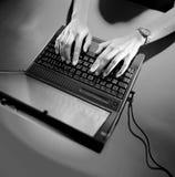 laptop stara szkoła Zdjęcie Stock