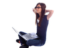 Laptop Student Royalty Free Stock Photography