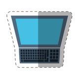 laptop study technology cut line royalty free illustration