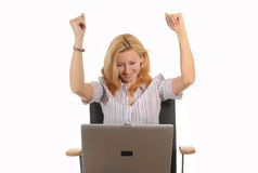 Laptop success Royalty Free Stock Image