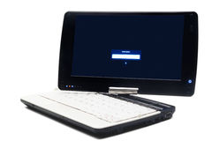 Laptop with swivel screen Stock Photos
