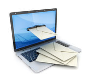 Laptop and symbol e-mail Royalty Free Stock Photos