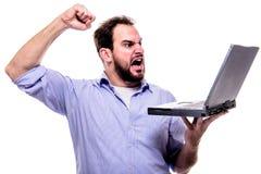 laptop szalenie Zdjęcie Stock