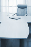 Laptop on a table Royalty Free Stock Image