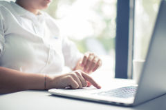 The laptop Royalty Free Stock Photography
