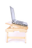 Laptop table. With white background royalty free stock images