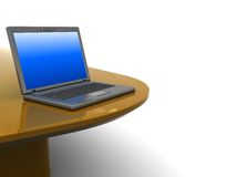 Laptop on table Stock Image