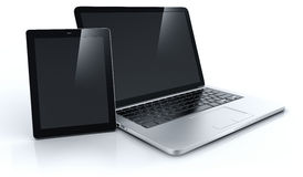 Laptop and tablet Stock Photo