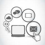 Laptop Tablet Computer Internet Icon Concept Royalty Free Stock Photography