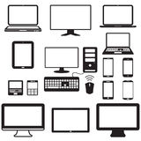 Laptop, tablet computer, monitor and mobile screen Stock Photo