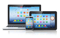 Laptop, Tablet PC And Smartphone Royalty Free Stock Photos