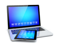 Laptop and tablet pc Royalty Free Stock Photo