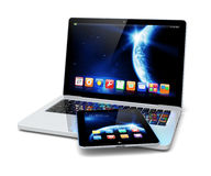 Laptop and tablet pc Stock Image