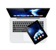 Laptop and tablet pc Stock Photos