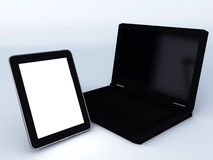 Laptop and tablet pc Royalty Free Stock Images