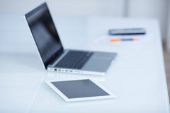 Laptop and tablet-pc Stock Photo