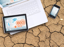 Laptop, tablet pc and smart phone Royalty Free Stock Photo