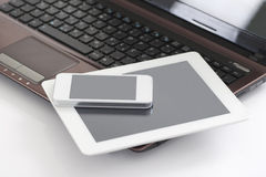 Laptop, Tablet PC & Smart Phone Royalty Free Stock Images