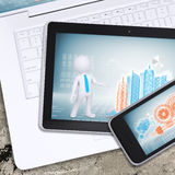 Laptop, tablet pc and smartphone Stock Photos